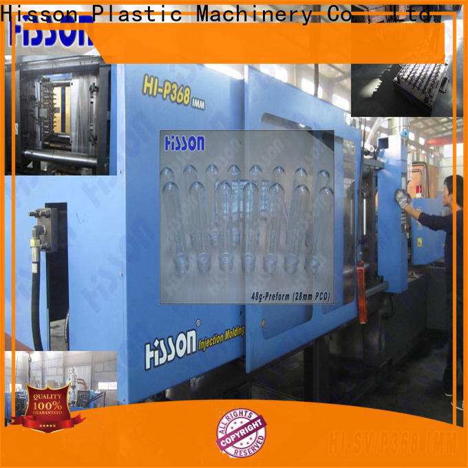 Hisson water horizontal plastic injection moulding machine mouth for bottle